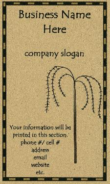 Primitive business cards prim willow tree business cards colourmoves
