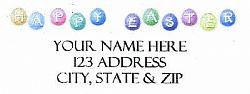 Happy Easter Address Labels