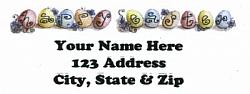 Happy Easter Eggs Address Labels