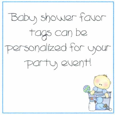Baby Boy In A Bucket Baby Shower Party Favor Tags