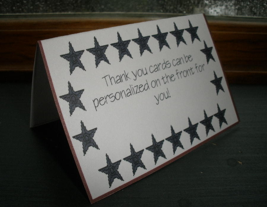 business mini thank you cards